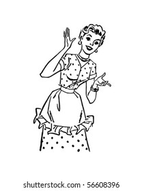 Happy Homemaker - Retro Clip Art