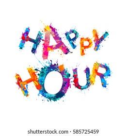 Happy hour. Splash paint