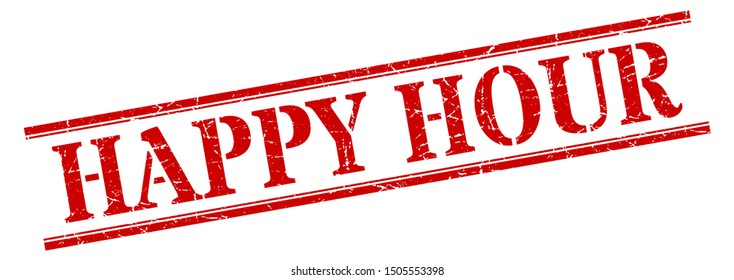 happy hour stamp. happy hour square grunge sign. happy hour