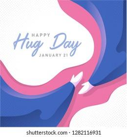 Happy hug day background paper art background