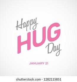 Happy hug day poster background