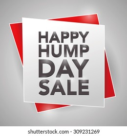 HAPPY HUMP DAY SALE, poster design element
