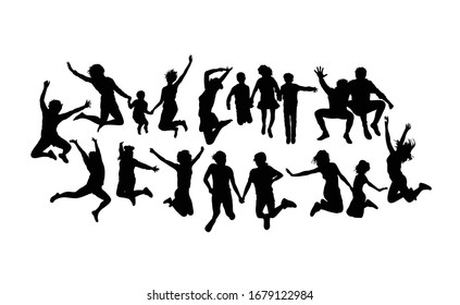 Happy Humping Activity Silhouettes, art vector design