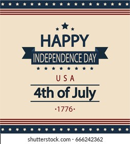Happy Independence card or background. vector illustration.
