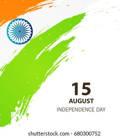 Happy Independence Day, 15th August design background.