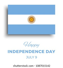 happy independence day of argentina banner layout design with text and paper cut national flag on a white background. vector illustration for greeting cards, posters, flyers, invitations, brochures