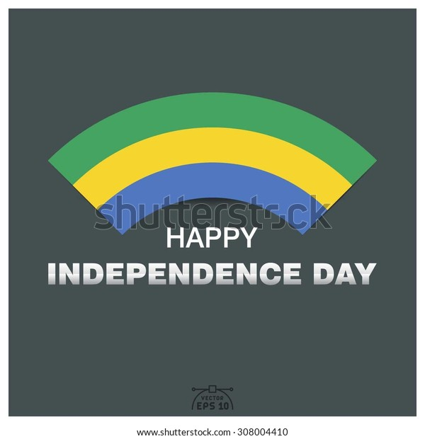 Happy independence day of Gabonese Republic