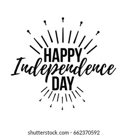 Happy Independence Day Greeting Card with Font. Vector illustration.