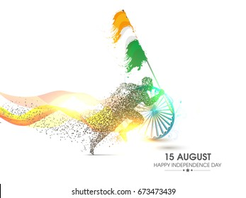 Happy Independence Day of India. 15th of August vector design .