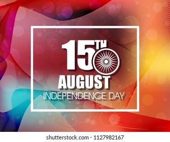 Happy Independence day of India festival With Elegant Indian flag theme, Good Concept, Beautiful Greeting Card Design and Background Vector Illustration...