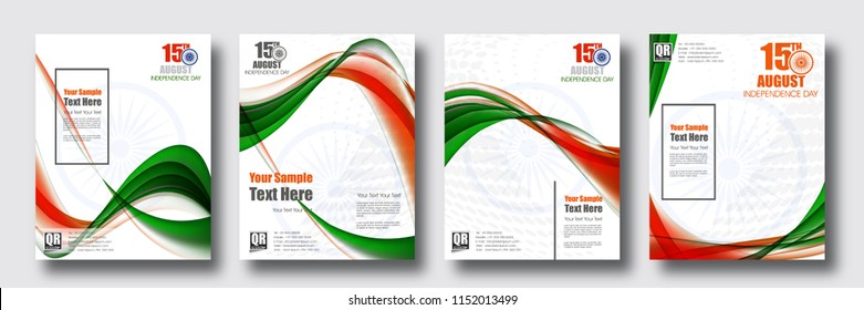 Happy Independence day of India festival With Elegant Indian flag theme, Good Concept, Beautiful Banner and Header Design Vector Illustration...