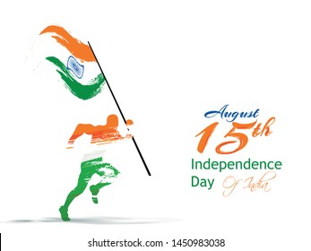 Happy Independence day India, Flyer design of 15th August, freedom day of India, vector illustration.