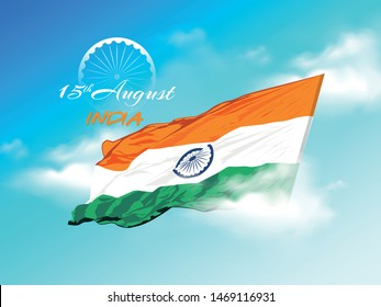 Happy Independence day India, Flyer design of 15th August, freedom day of India, vector illustration