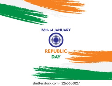 happy independence day of india illustration vector, poster design using brush stroke