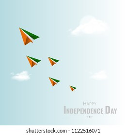 Happy Independence day India, Vector illustration for card design, Flyer design for 15th August.