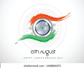 \nHappy Independence day India, Vector illustration, Flyer design for 15th August.