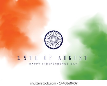 Happy Independence day India, Vector illustration, Flyer design for 15th August.