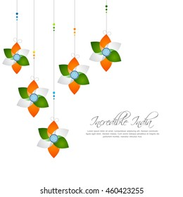 Happy Independence day India, Vector illustration, Flyer design for 15th August