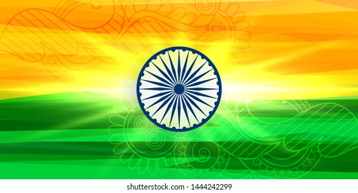 happy independence day indian flag concept background