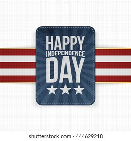 Happy Independence Day patriotic Label