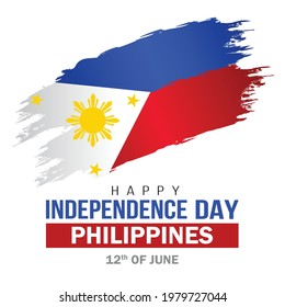 happy independence day Philippines greetings. vector illustration design.