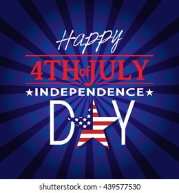 Happy Independence Day Poster, Happy Fourth of July card