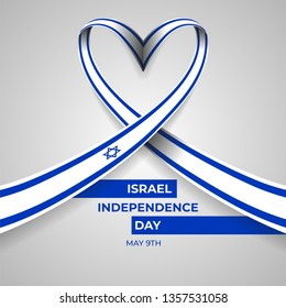 Happy Independence Day State of Israel Vector Illustration Design Template.