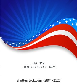 Happy Independence Day wave background.