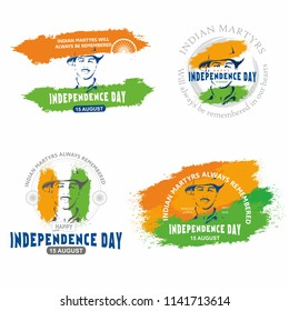 Happy India Independence Day, Indian Martyr Bhagat Singh design template