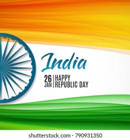 Happy India Republic Day26 January. Vector Illustration EPS10