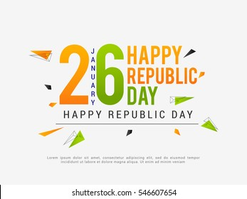 Happy Indian Republic day celebration poster or banner background.