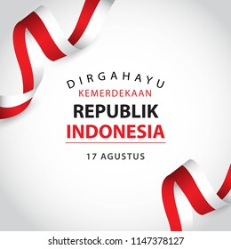 Happy Indonesia Independent Day Vector Template Design Illustration