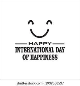 Happy Internasional happiness day vektor template
