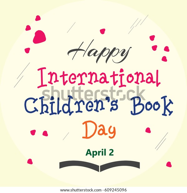 Happy International Childrens Book Day Logo Stock Image