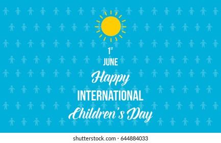 Happy international Children's day background