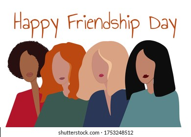 Happy International Friendship Day Holiday concept. Template for background, banner, card, poster with text inscription. Vector EPS10 illustration - Shutterstock ID 1753248512
