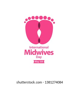 Happy International Midwives Day vector template. May 5th celebration. Vector design for greeting cards or print.
