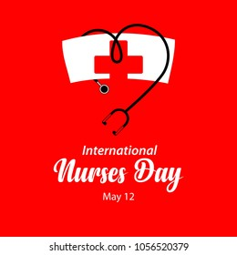 Happy International Nurses Day Vector Template Design