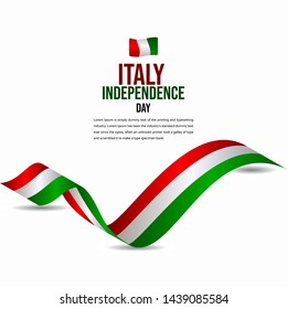 Happy Italy Independence Day Celebration Vector Template Design Illustration
