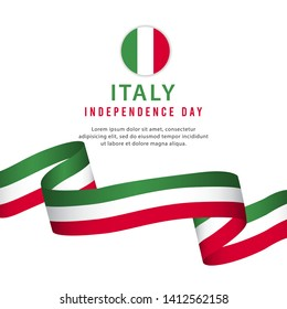Happy Italy National Day Celebration vector template. Design for banner, greeting cards or print.