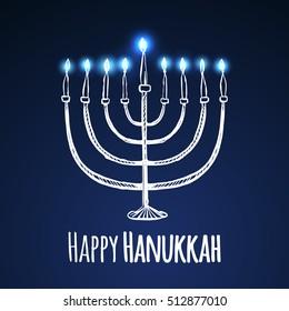 Happy hanukkah jewish holiday hanukkah greeting stock vector happy jewish holiday hanukkah greeting card vector illustration m4hsunfo