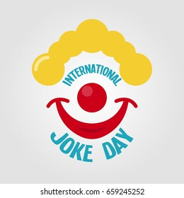 Happy Joke Day. Vector Illustration. Suitable for poster, banner, campaign, and greeting card