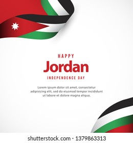 Happy jordan independence day vector template