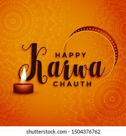 happy karwa chauth festival greeting decorative background