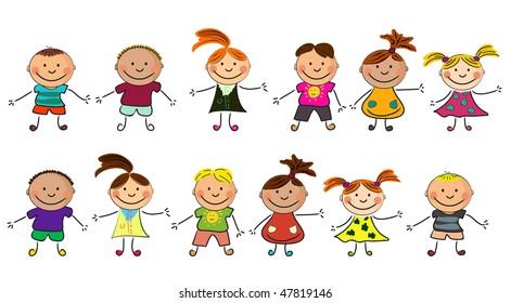happy kids.