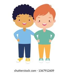 happy kids character
