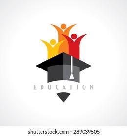 Glückliche Kinder, Bildungsbegriff, Vektorgrafik