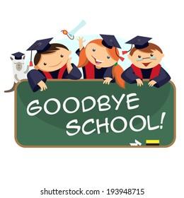 happy kids graduates