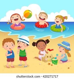 Summer Cartoon Images Stock Photos Vectors Shutterstock