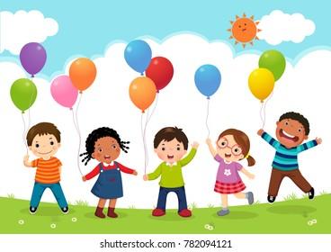 Kid Balloon Gorseller Stok Fotograflar Ve Vektorler Shutterstock
